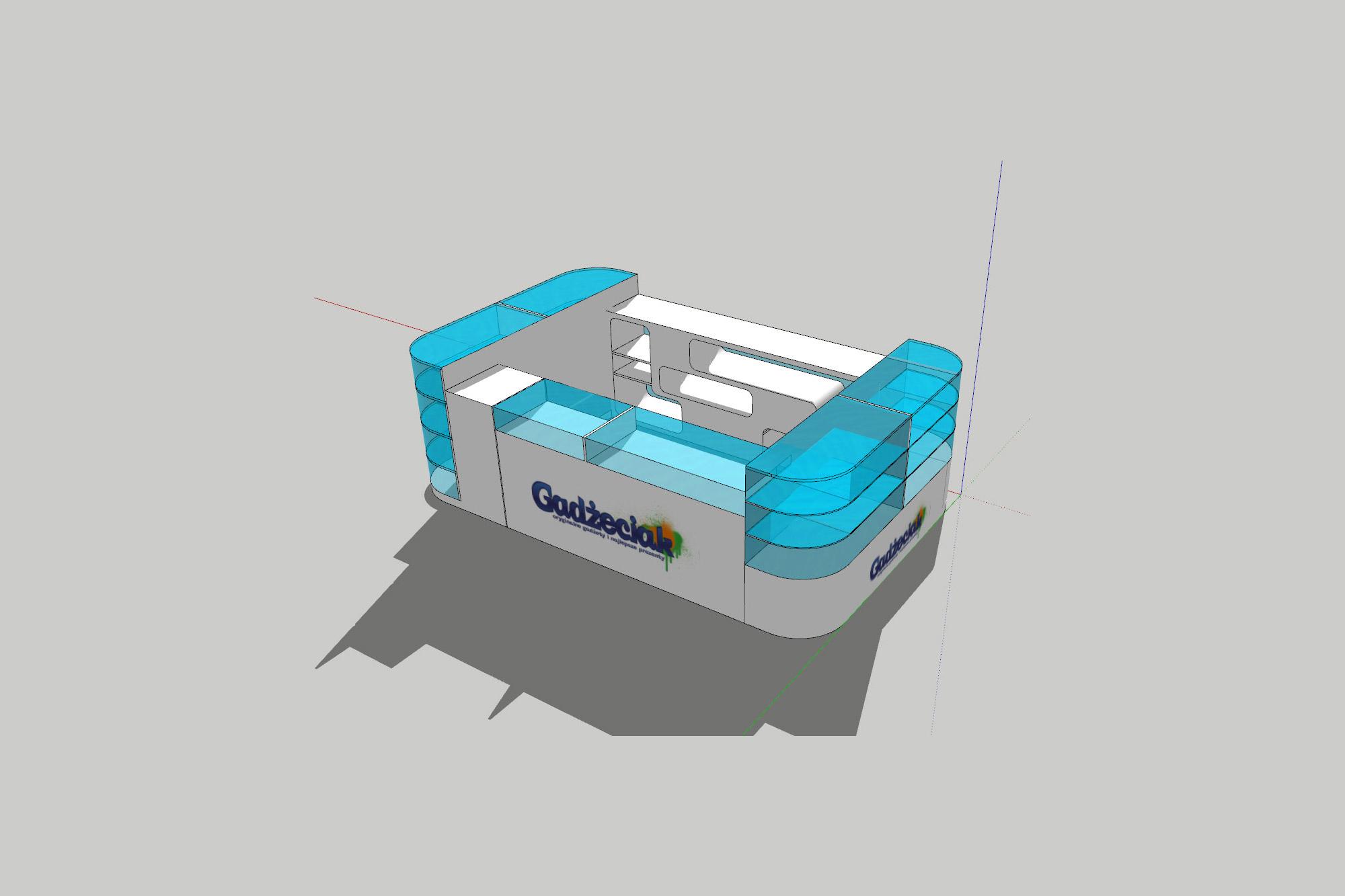 projektowanie stoisk na targi, projektowanie stoisk, projekt 3d stoiska