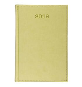 kalendarz książkowy a4 na 2019 kolor jasny zielony