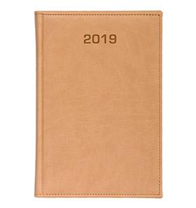 kalendarz książkowy a4 na 2019 kremowy