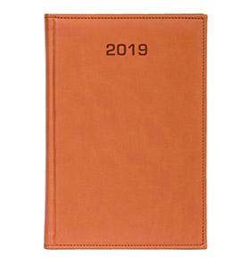 kalendarz książkowy a4 na 2019 kolor pomarańczowy