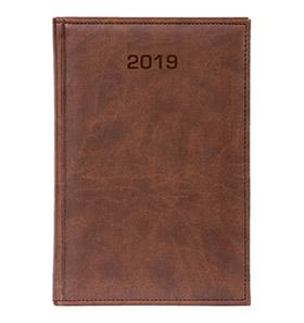 kalendarz książkowy a4 na 2019 jasny brąz