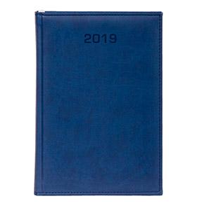 kalendarz książkowy a4 na 2019 kolor granatowy