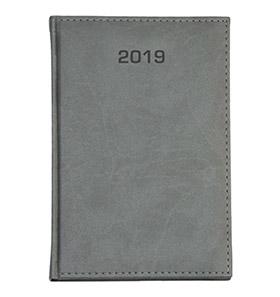 kalendarz książkowy a4 na 2019 kolor szary