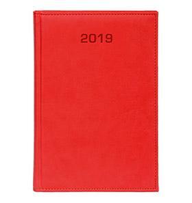 kalendarz książkowy a4 na 2019 kolor czerwony