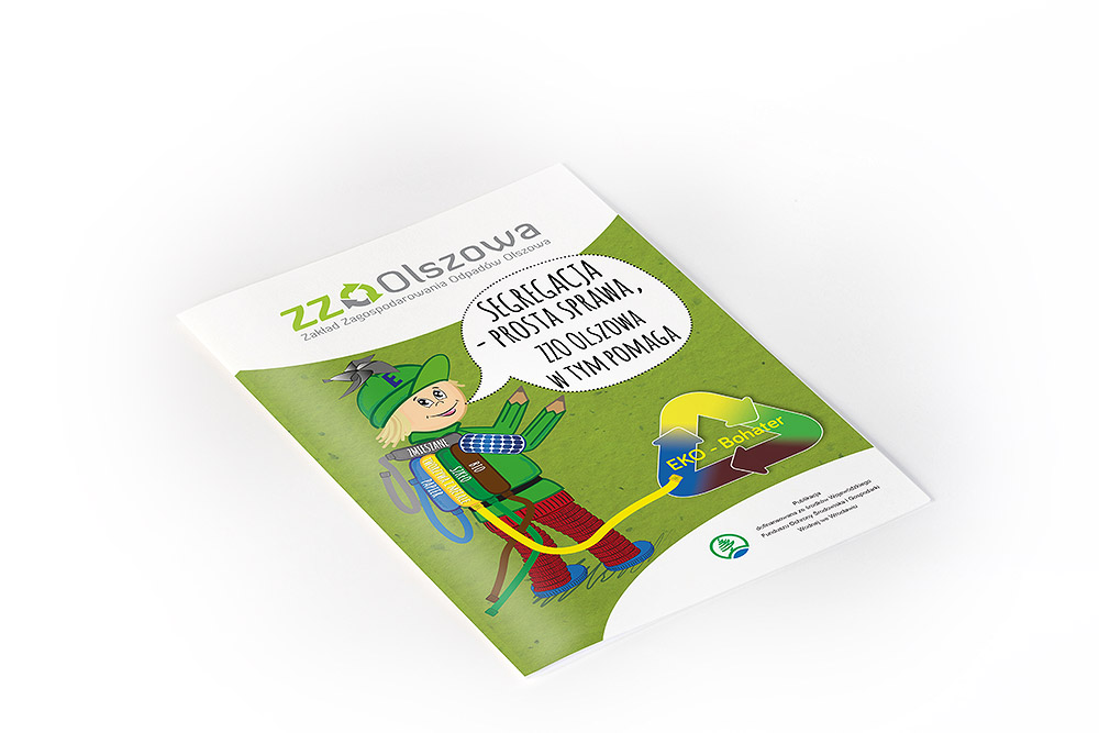 broszura tematyczna ekologia segregacja , kolorowanka, książeczka dla dzieci
