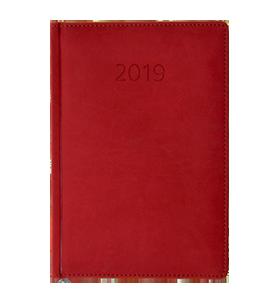 kalendarz książkowy 2019 firmowy czerwony