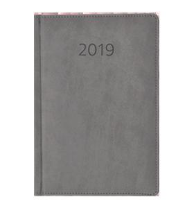 kalendarz książkowy 2019 firmowy szary