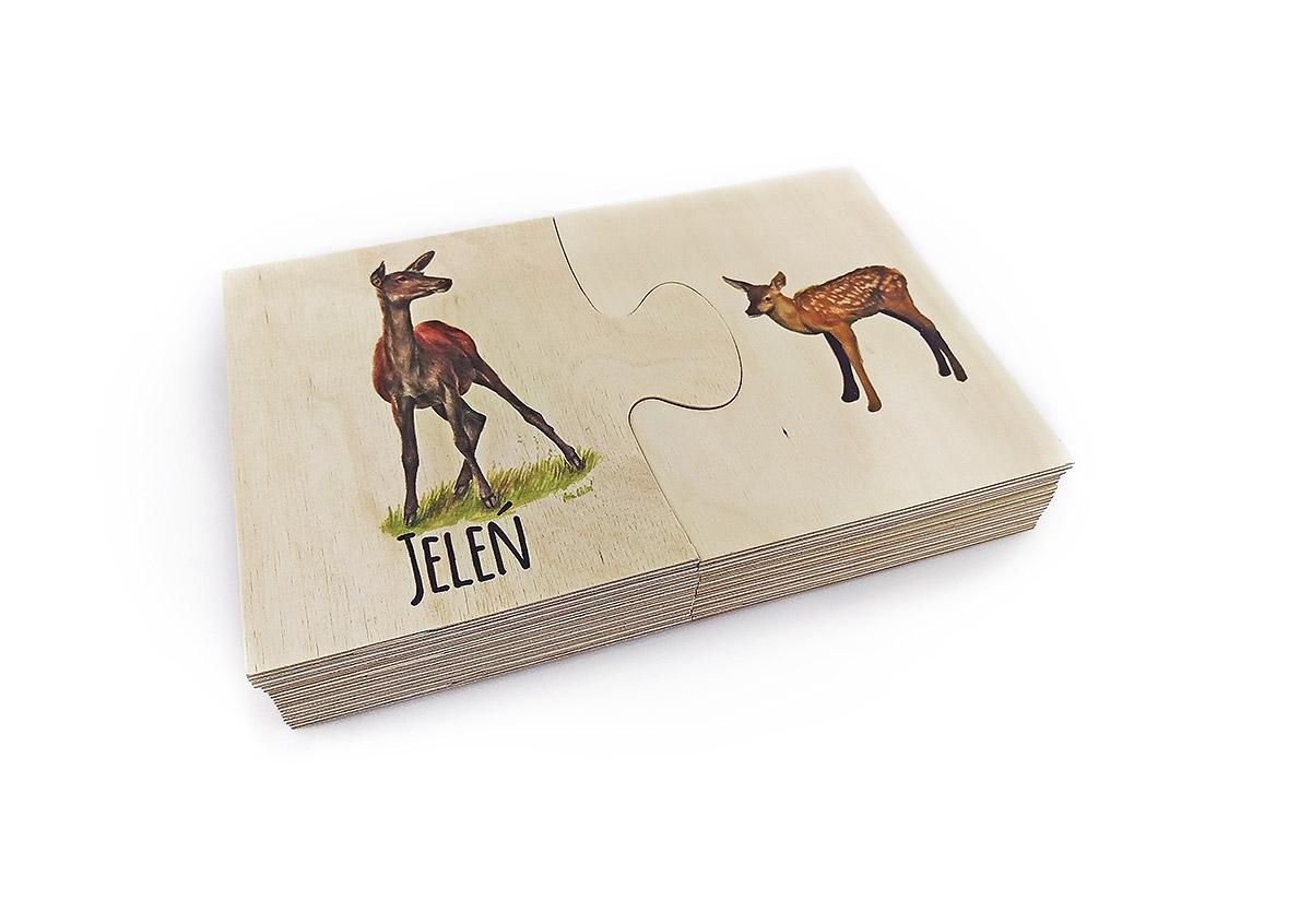 drewniane puzzle, druk na puzzlach, zabakwa puzzle zadrukowana