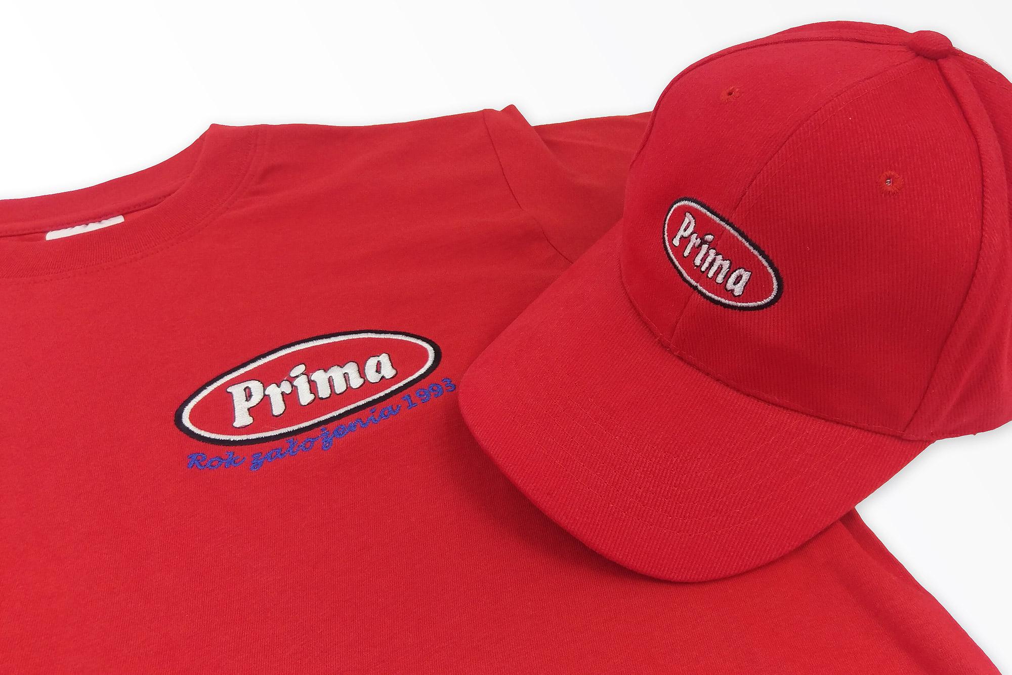 haft komputerowy na czapeczkach, haft na koszulkach, logo haft