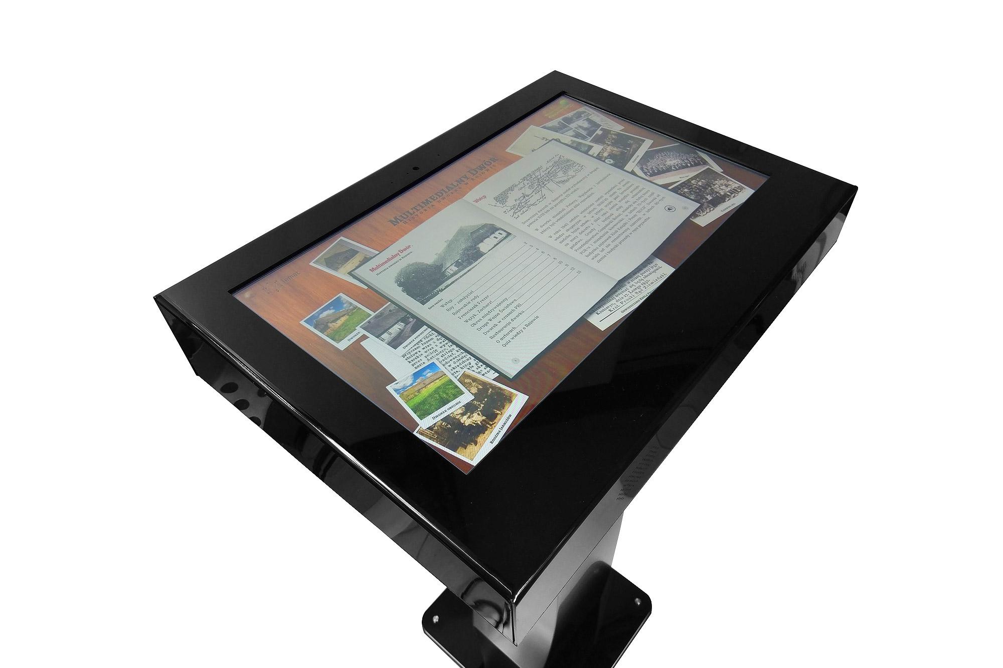 info kiosk, punkt informacyjny, zabudowa tablet, obudowa na tablet