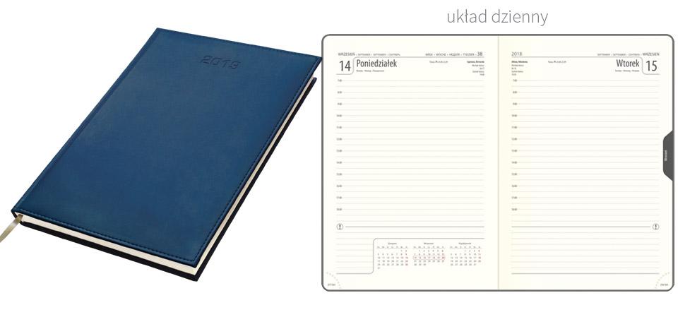 kalendarz książkowy a4 na 2019 układ dzienny
