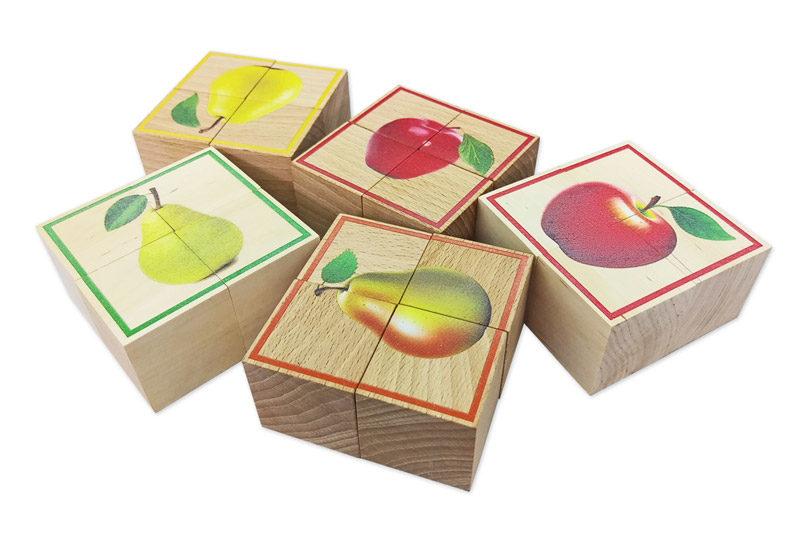 Drewniane klocki do zabawy, puzzle, druk na drewnie, produkcja