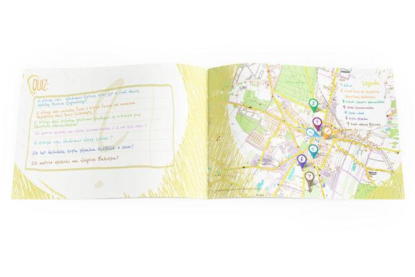 kolorowanka mapka ciekawostek i zabytków reklama miasta