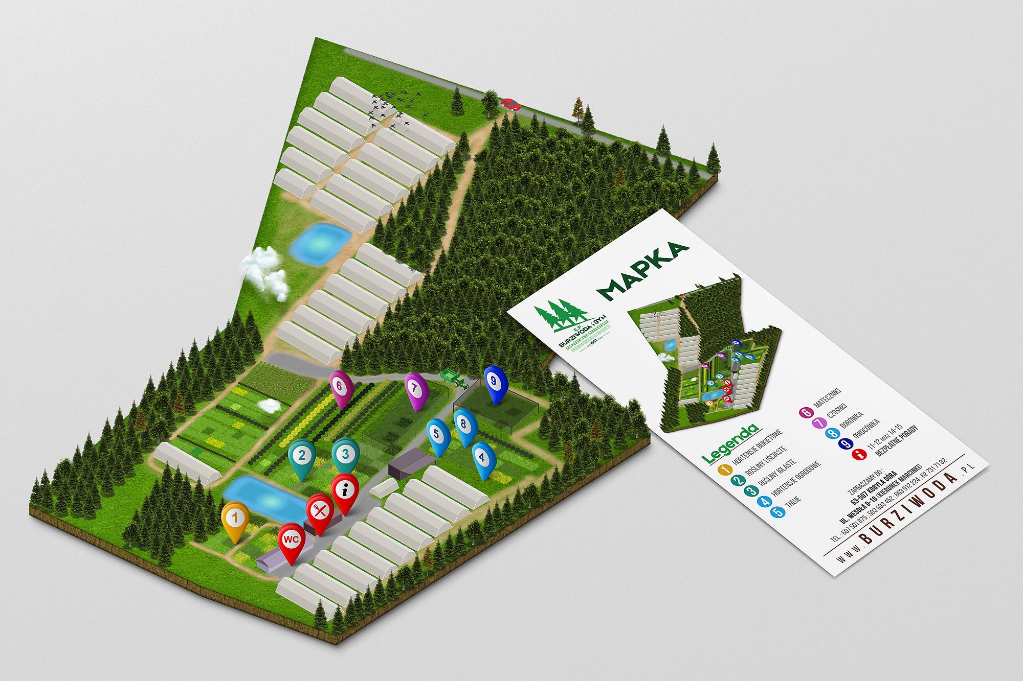 projektowanie map, projekt mapy 3d , mapka lokalizacyjna projekt i wydruk