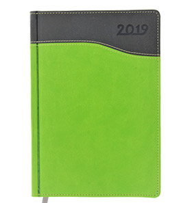 kalendarz książkowy 2019 firmowy zielony