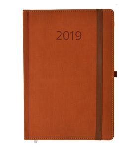 kalendarz książkowy 2019 firmowy brązowy