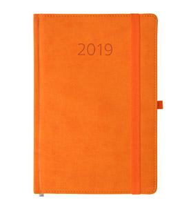 kalendarz książkowy 2019 firmowy pomarańczowy