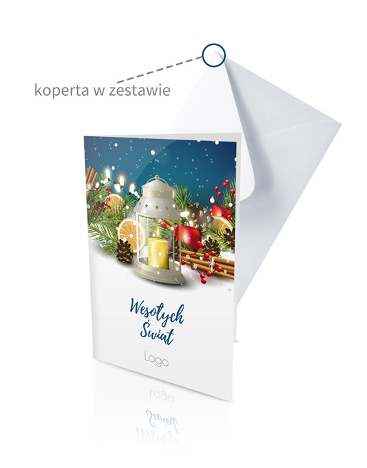 kartki świąteczne dla firm druk z kopertą
