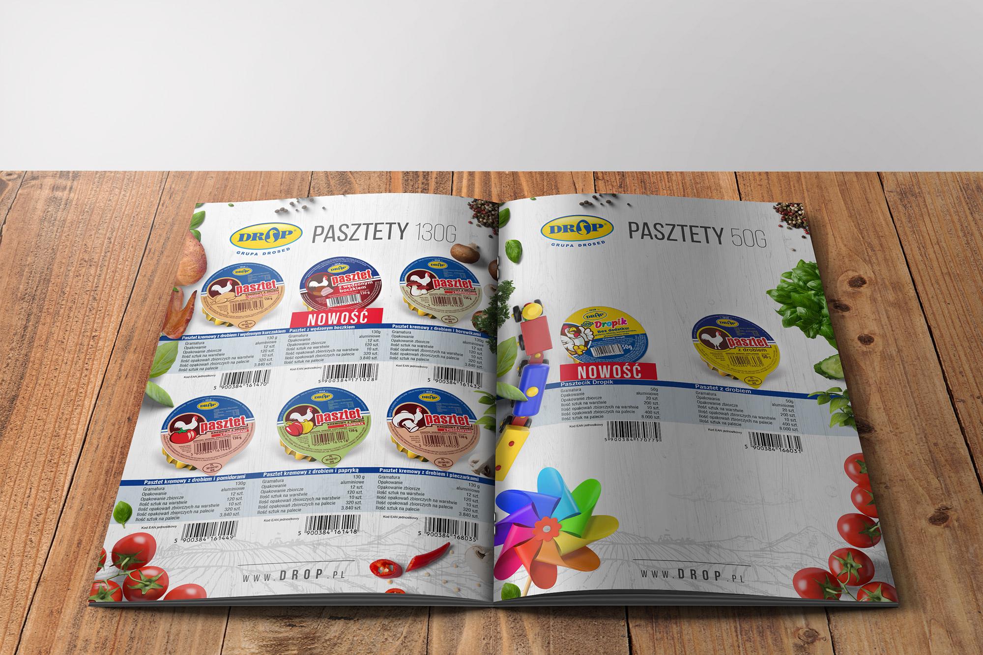 projektowanie katalogów firmowych ofertowych, katalog produktów drop 2019