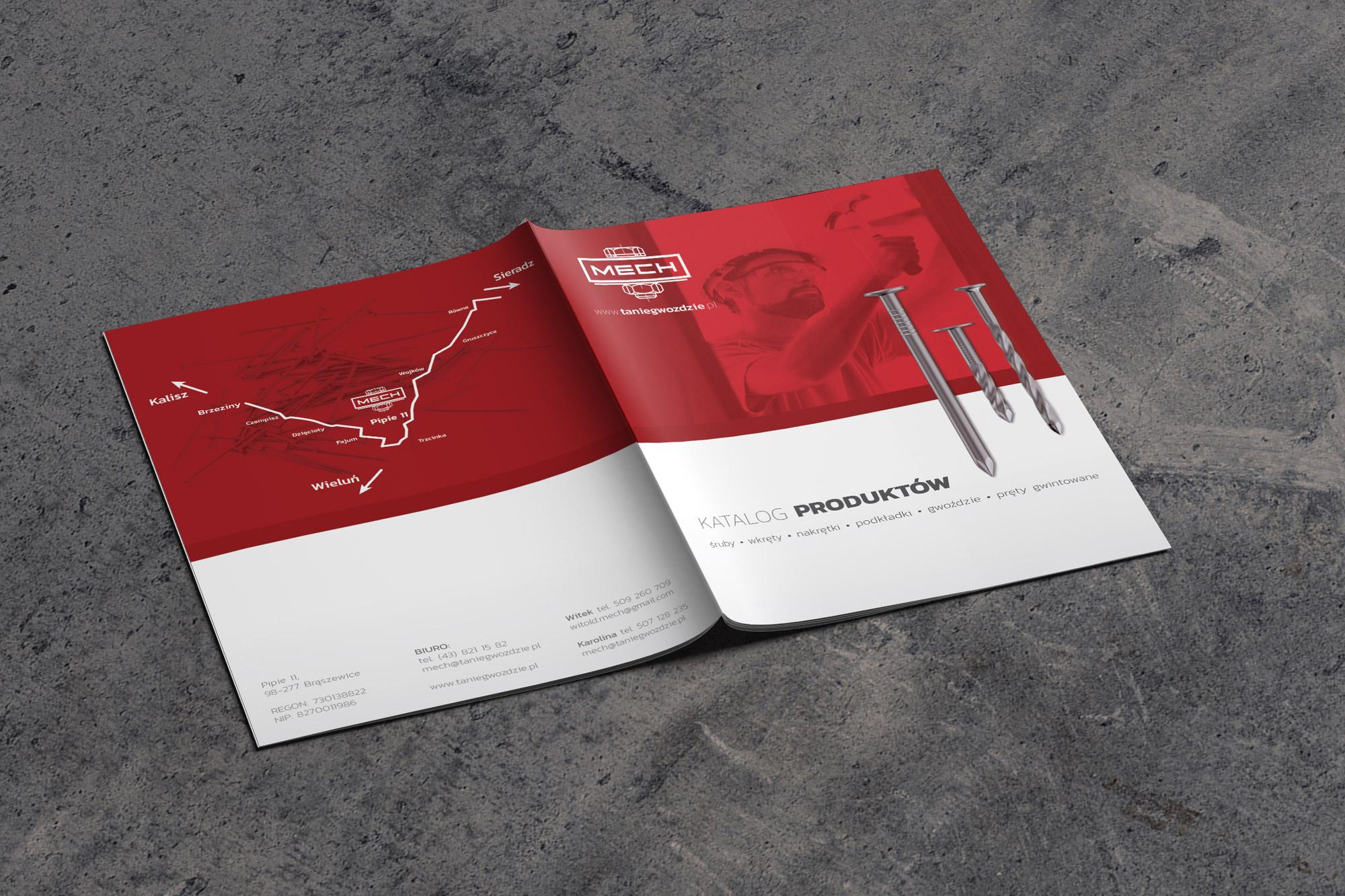 projekt katalogu produktowego gwoździ i śrub, katalog anc, projektowanie katalogów