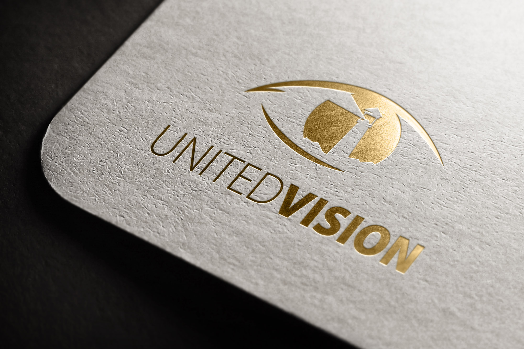 projekt logo united vision, projektowanie logo
