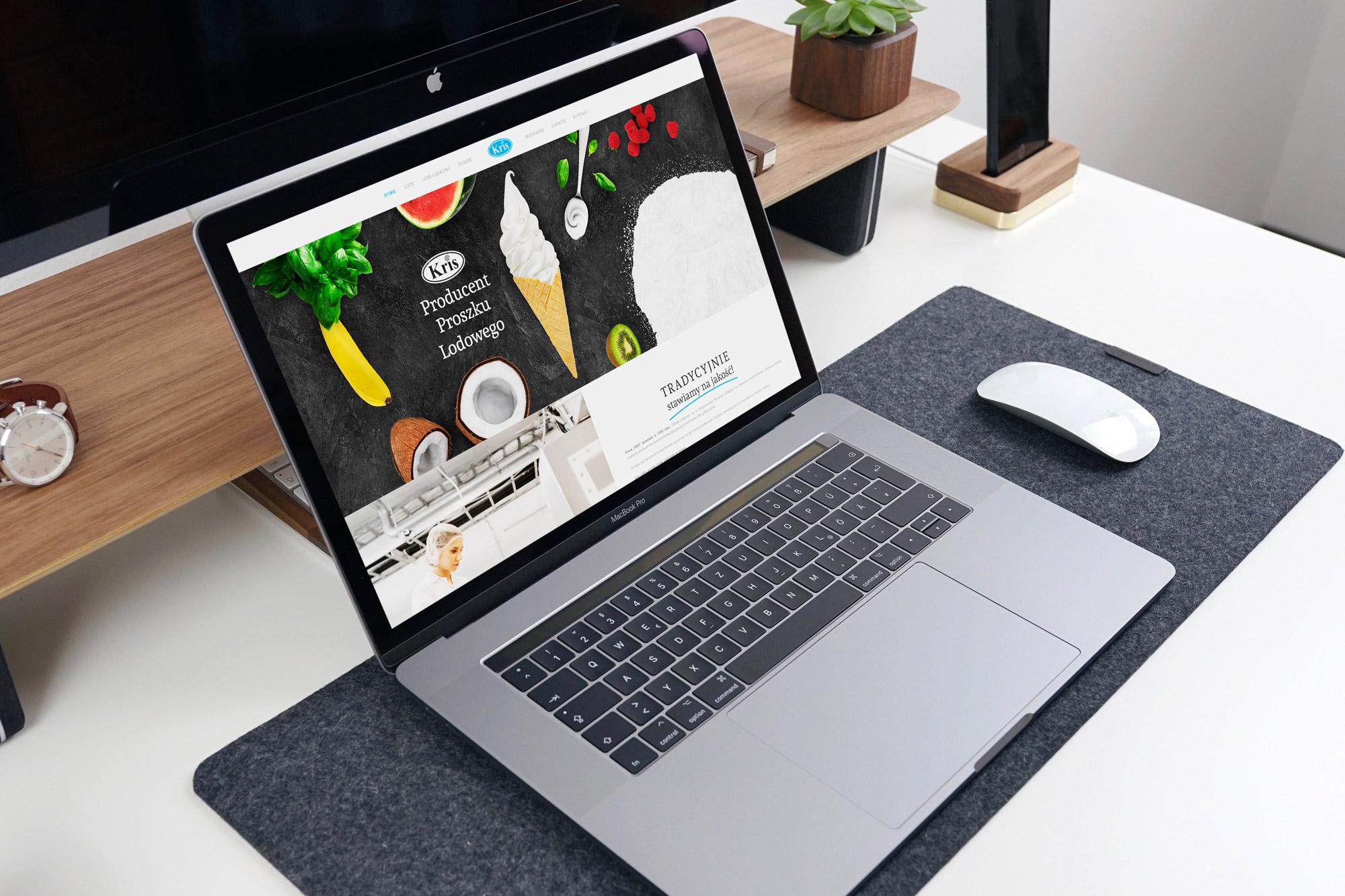 projektowanie stron internetowych ostrzeszów, projekt strony www kris-lody.pl