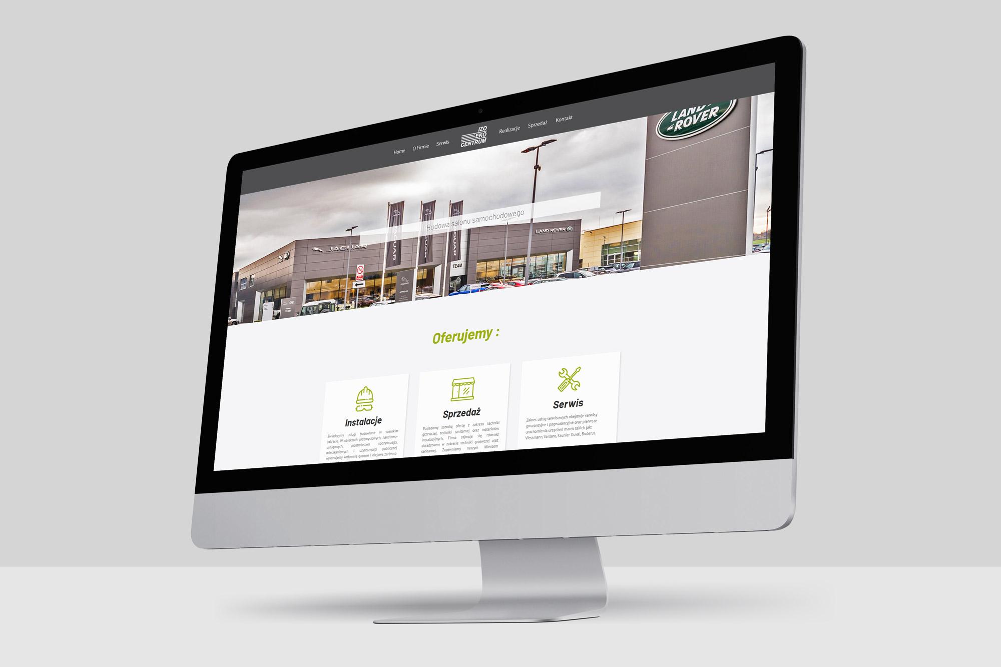 wykonujemy strony internetowe dla firm, projekt www ostrzeszów, strona www izo eko